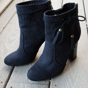 Black Southwest Style Ankle Booties